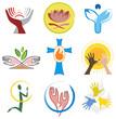 Ensemble d'Icones Spiritualité / Religion pour Design Logos