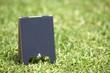 芝生のブラックボード