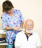 Senior Man Gets Ultrasound poster