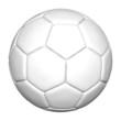 Leinwanddruck Bild - weißer fußball - freigestellt