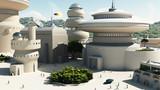 Futuristic Sci-Fi townscape poster