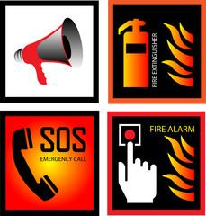 fire signs vector illustration