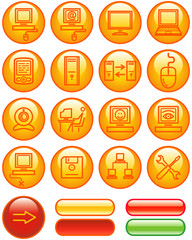 Web Icons Set – Hardware (Vector)