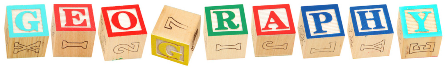 Alphabet Blocks GEOGRAPHY