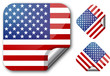 Sticker with Usa flag