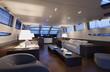 Italy, luxury yacht Tecnomar 36 (36 meters), dinette