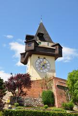Uhrturm in Graz, Österreich