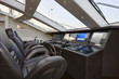 Italy, luxury yacht Tecnomar 36 (36 meters), driving consolle