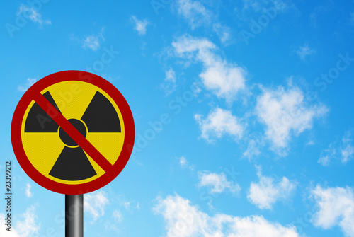 Political issue: 'anti-nuclear' concept. Photo realistic