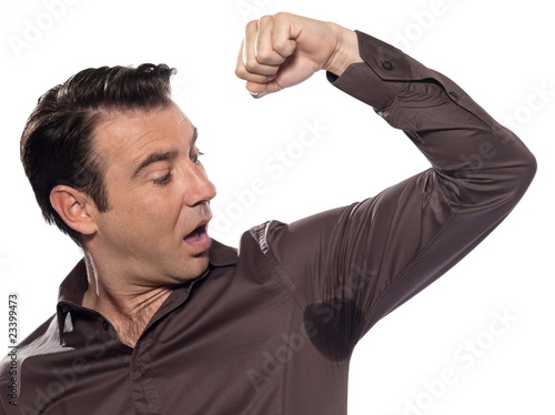 Man Portrait sweat perspiring