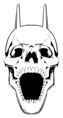 Demon skull. Vector horror illustration, isolated object