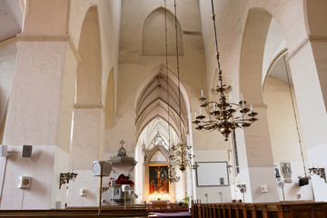 Church interior. Tallinn. Estonia