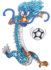 football dragon cartoon