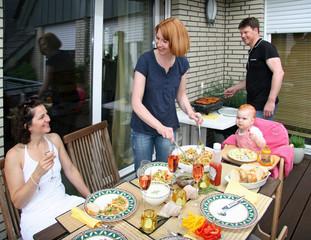 Grillfest Familie