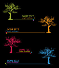 trees and text