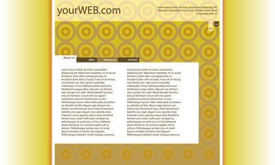 web with yellow wallpaper