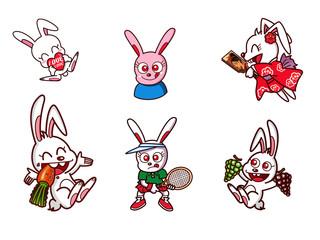 ウサギのキャラクタ−00