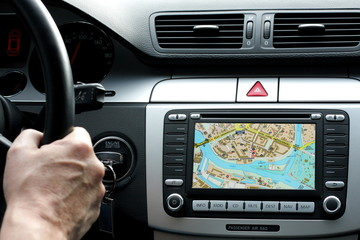 Exclusive car dashboard and gps with map