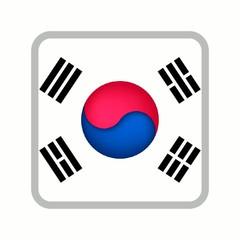 animation drapeau bouton corée du sud