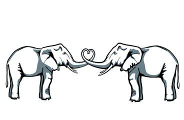 2 Elephanten
