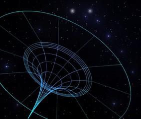 Krümmung der Raumzeit durch ein Schwarzes Loch