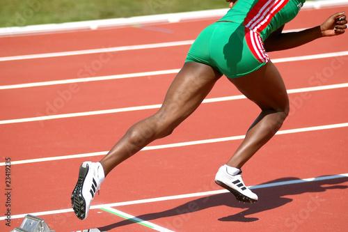Running atlete Poster
