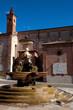 Leinwanddruck Bild - bassano del grappa piazza garibaldi fontana chiesa provincia di