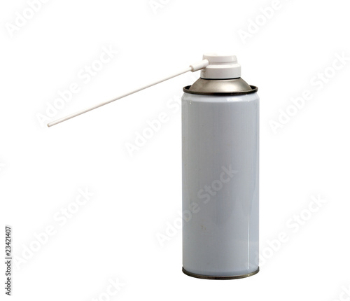 gray bottle of clean air spray