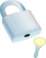 vector of 3D realistic lock