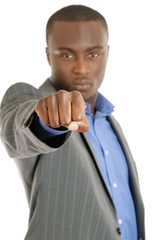 Business man fist sign