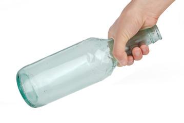 beer bottle in hand
