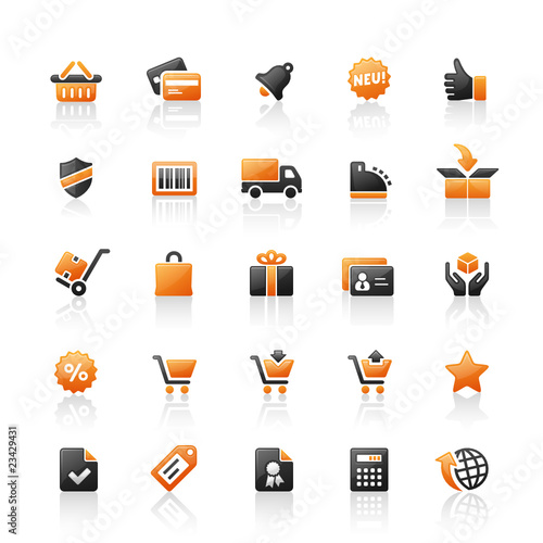 Orange Black Website Icons