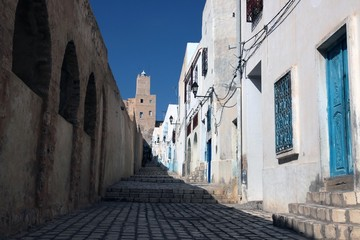 bricks on the street in sousse tunisia
