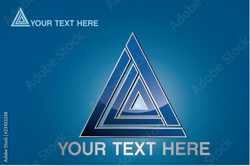 logo en forme de triangle, vector