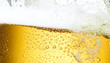 Leinwandbild Motiv Bierfond mit Tropfen 11 Ausschnitt