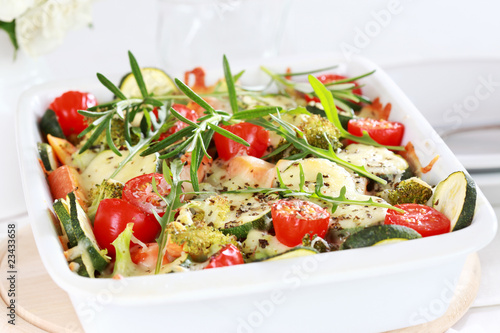 Baked mixed vegetable