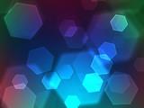 polygon bokeh effect poster