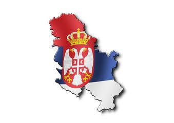 Cartina Serbia
