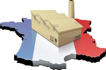 France et usine délocalisée (détouré)