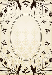 Vertical vintage background for Book cover vector or frame