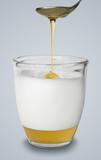 Honey and hot milk alternative flu medicine poster