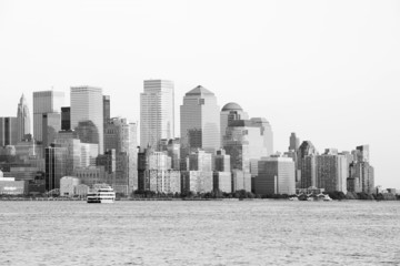 Manhattan Downtown in black and white