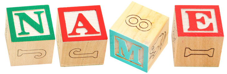 Alphabet Blocks NAME