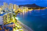 Waikiki  beach in Honolulu, Hawaii. - 23444422