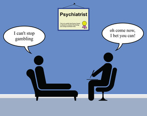 On the Psychiatrist couch with Doctor Quack and gambling