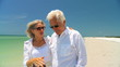 Senior Couple Enjoying Beach Lifestyle 60FPS