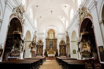 interior of Church of Saint Cross, Znojmo, Czech Republic