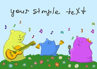 Card. Musical family