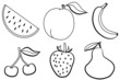 Frutas de verano - dibujos para colorear