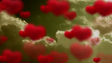 Video motion background: Love and heart